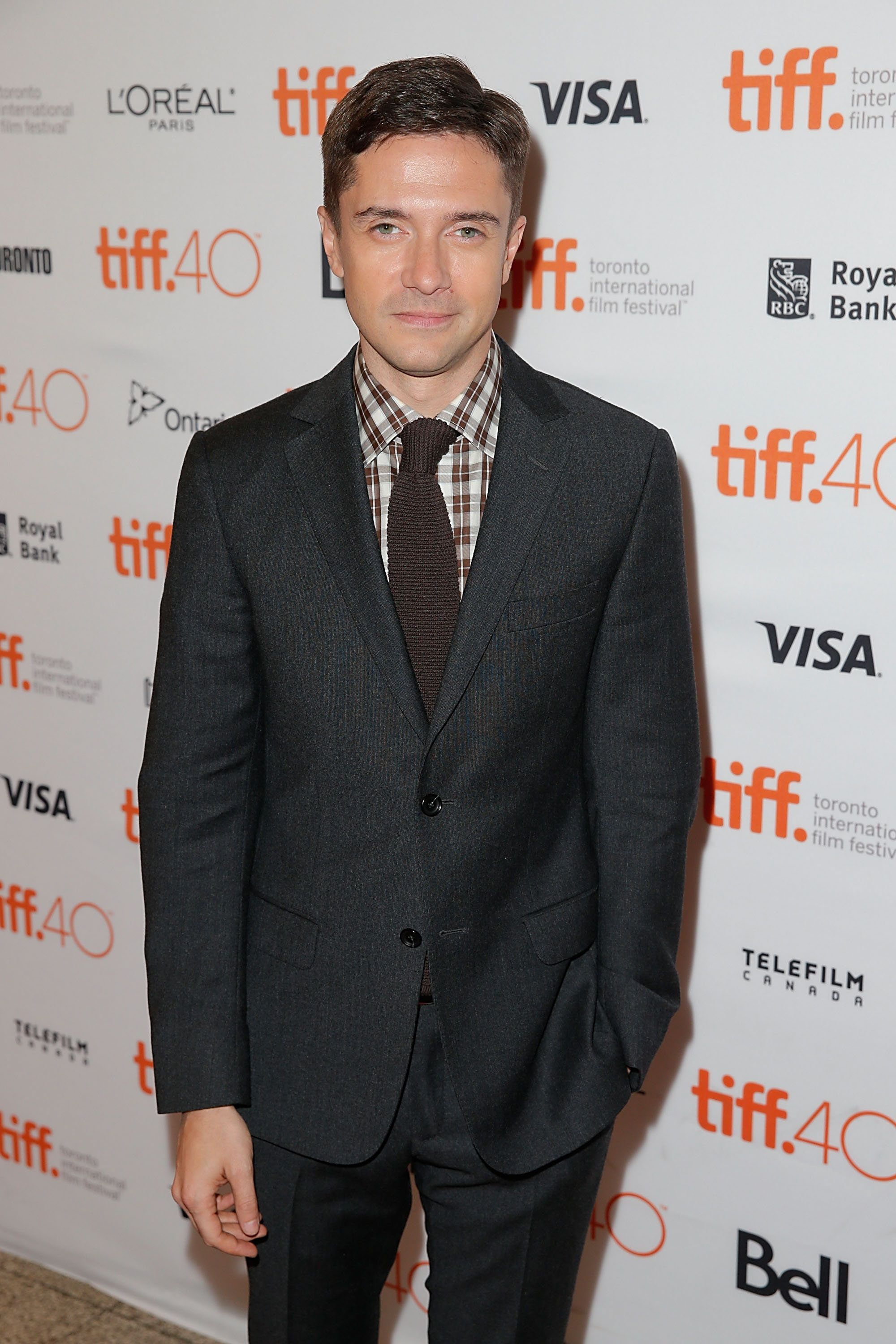 TORONTO, ON - SEPTEMBER 12:  Topher Grace attends 2015 Toronto International Film Festival - 'Truth' Premiere at Winter Garden Theatre on September 12, 2015 in Toronto, Canada.  (Photo by Joe Scarnici/WireImage)