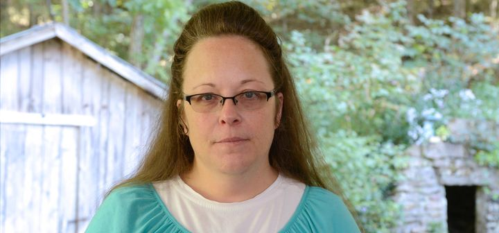 Kim Davis, the Kentucky court clerk who went to jail because she refused to issue gay marriage licenses.