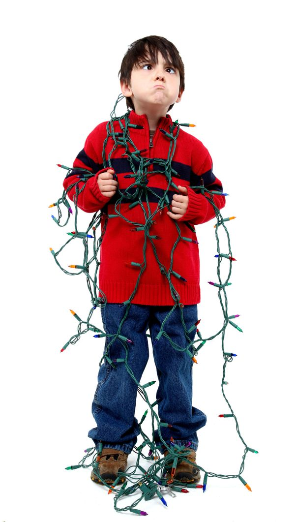 hate to break it to ya kid but this doesnt get easier with - Tangled Christmas Lights