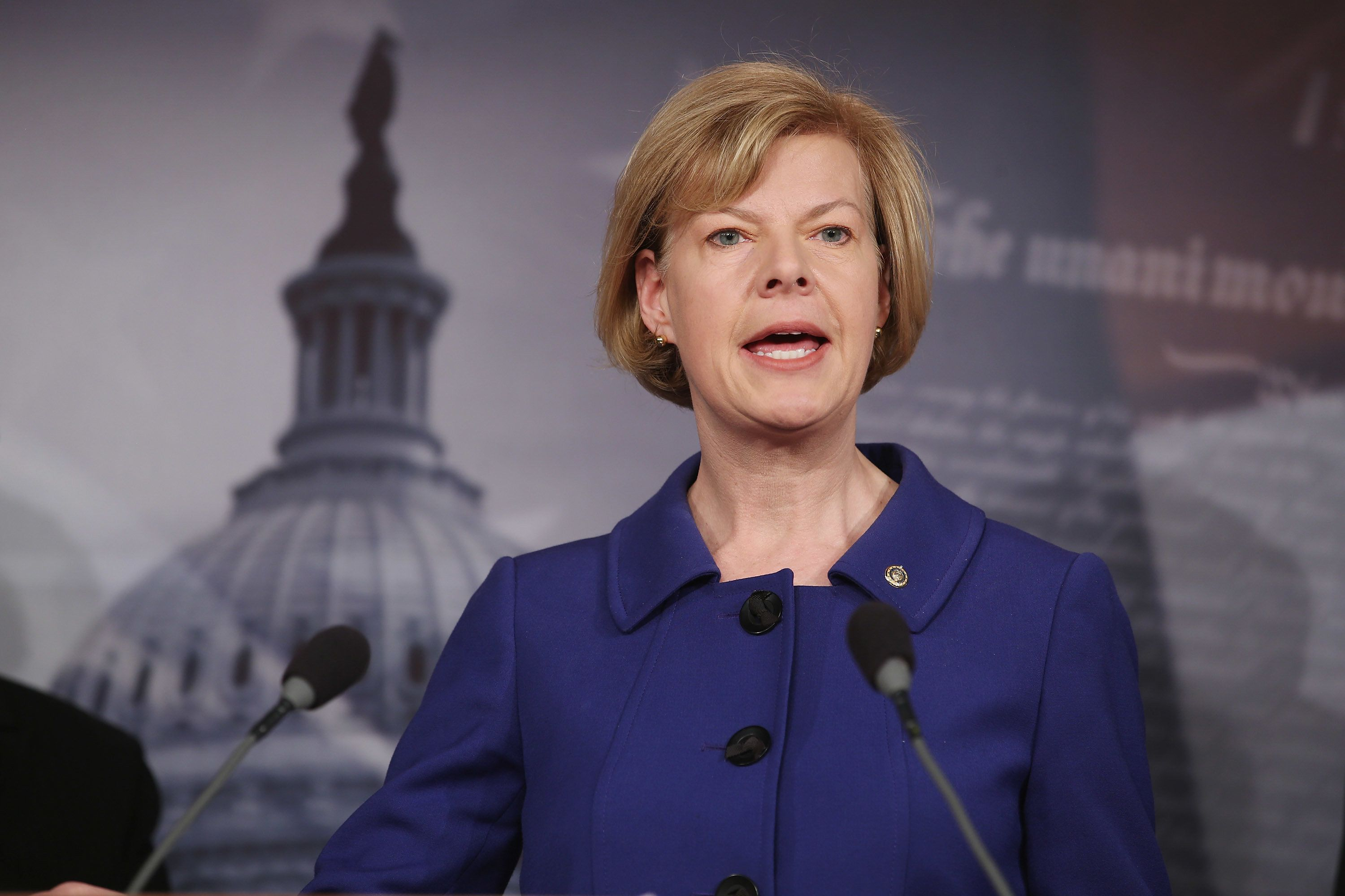 Sen. Tammy Baldwin (D-Wis.) spoke on Friday about the need to crack down on corporate short-termism.