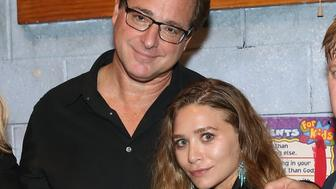 NEW YORK, NY - NOVEMBER 06: Bob Saget (L) and Ashley Olsen attend Bob Saget Joins The Cast Of 'Hand To God' On Broadway at Booth Theatre on November 6, 2015 in New York City.  (Photo by Monica Schipper/Getty Images)