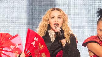 COLOGNE, GERMANY - NOVEMBER 04: Madonna performs onstage during her 'Rebel Heart' Tour at the Lanxess Arena on November 4, 2015 in Cologne, Germany. (Photo by Marc Pfitzenreuter/Redferns via Getty Images)