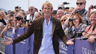 DEAUVILLE, FRANCE - SEPTEMBER 11:  Director Michael Bay attends the unveiling of his dedicated beach locker room on the Promenade des Planches during the 41st Deauville American Film Festival on September 11, 2015 in Deauville, France.  (Photo by Francois Durand/Getty Images)