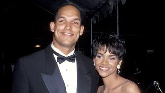 Halle Berry and David Justice during 25th Annual NAACP Image Awards at Pasadena Civic Auditorium in Pasadena, California, United States. (Photo by Ron Galella/WireImage)