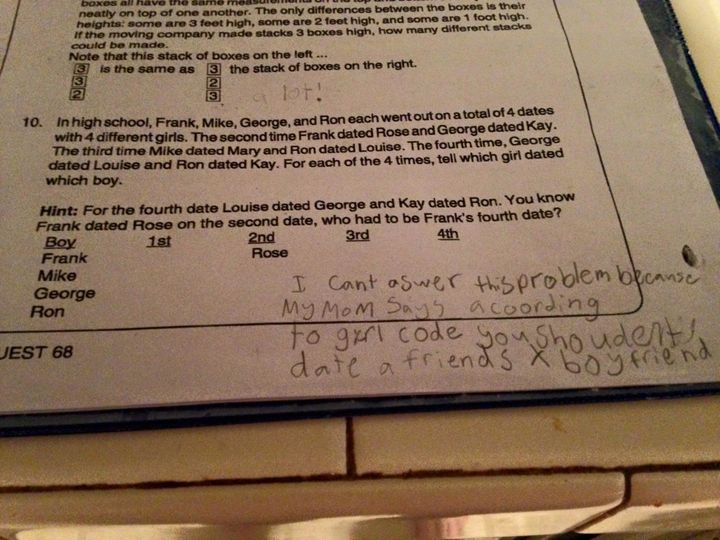 Fourth Grader Shuts Down Math Problem By Invoking Girl Code