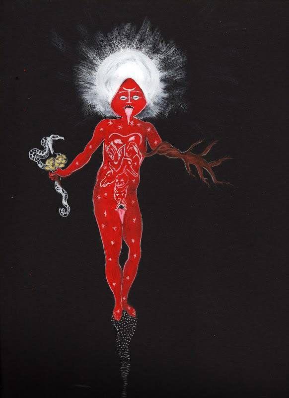"""Dolorosa De La Cruz, """"Invocation of la Reina Roja"""""""