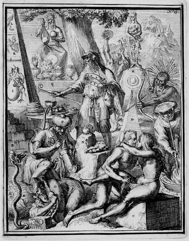 """Romeyn de Hooghe, 1735, """"Idolatry"""""""