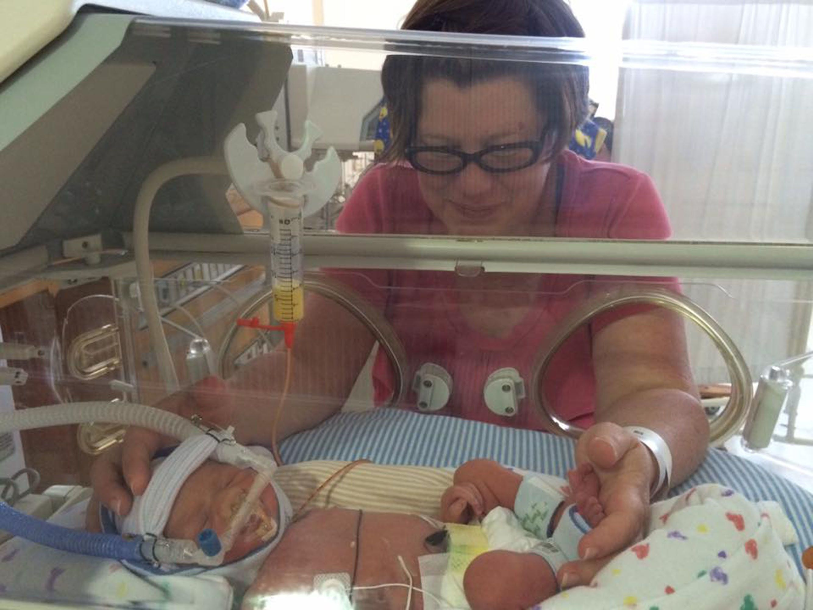 """""""Born at 33 weeks. I put on my bravest face, but inside I was completely terrified. I also remember just wanting to bust into"""