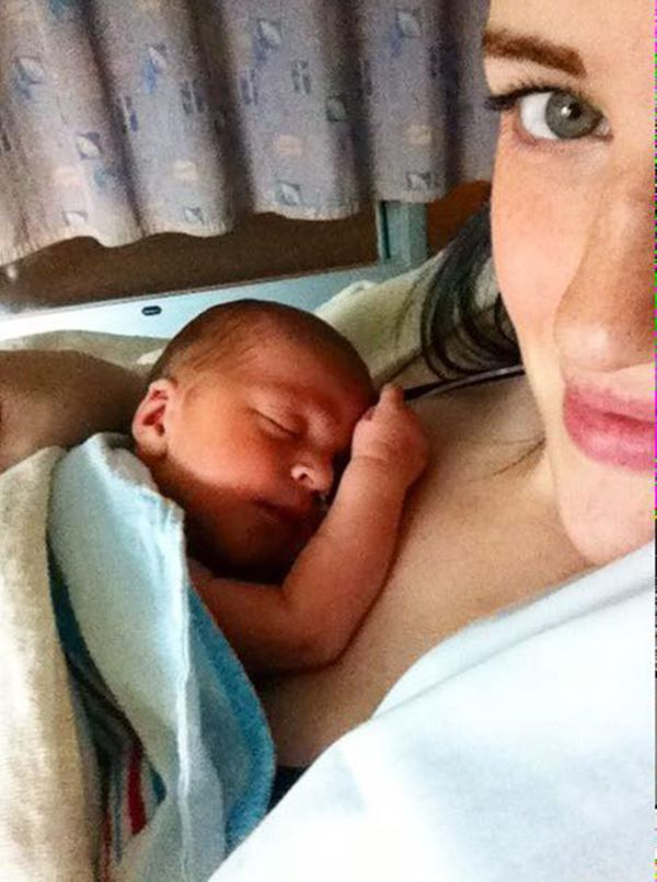 """""""Threedays old and three days into our NICU stay. My baby boy was born at 35 weeks for unknown reasons and weighed 5 po"""