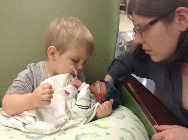 """""""Rory was born at 34 weeks. Like his brother, my water broke and I went into labor, despite having had 20 weeks of progestero"""
