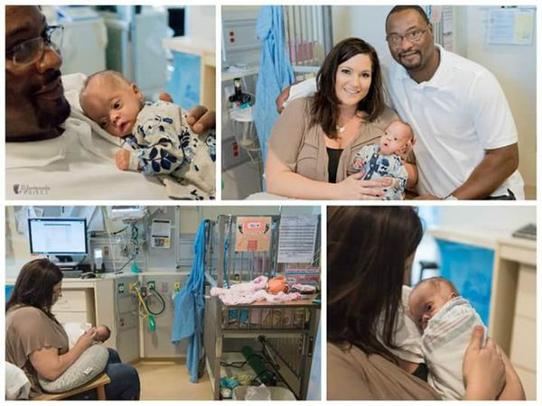 """""""She was a 25 weeks at1 pound, 10.5 ounces and 13.75inches long. I can't wait to get her home -- it had been 118"""