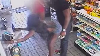Washington D.C. police are looking for two women accused of twerking an fondling a man in a convenience store.