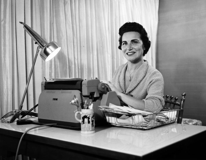Author and 'Dear Abby' columnist Abigail Van Buren, circa 1958.