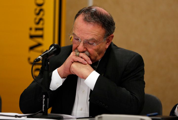 University of Missouri Chancellor R. Bowen Loftin, pictured at an earlier news conference, announced his resignation Monday.