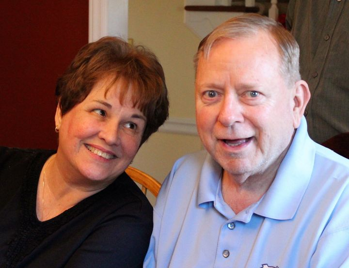 Pat and John Snyder at his birthday party in March 2013.