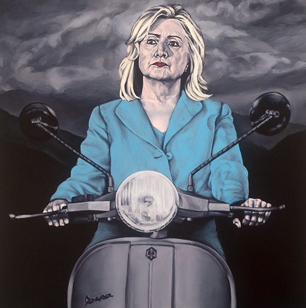 "<span class='image-component__caption' itemprop=""caption"">Easy Rider: ""This is how my Hillary odyssey will end. She will ride off into the sunset, leaving the storm clouds behind. And like all the women I've ever been with, she will leave better off than me.""</span>"