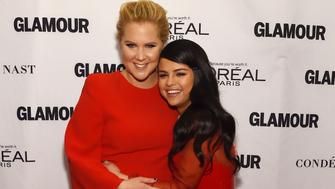 NEW YORK, NY - NOVEMBER 09:  Comedian Amy Schumer (L) and recording artist Selena Gomez attend 2015 Glamour Women Of The Year Awards at Carnegie Hall on November 9, 2015 in New York City.  (Photo by Larry Busacca/Getty Images for Glamour)