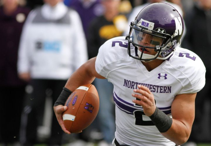 Former Northwestern quarterback Kain Colter during a 2013 game against Iowa. Colter led the movement to form the first colleg