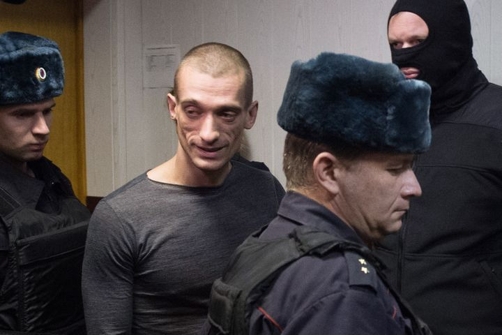 Pyotr Pavlensky is on trial for vandalism, in chargesrelated to a 2014 pro-Ukrainian revolution protest.