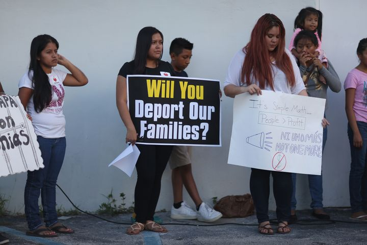 Families have urged the courts to allow President Barack Obama's deportation relief policies to move forward.