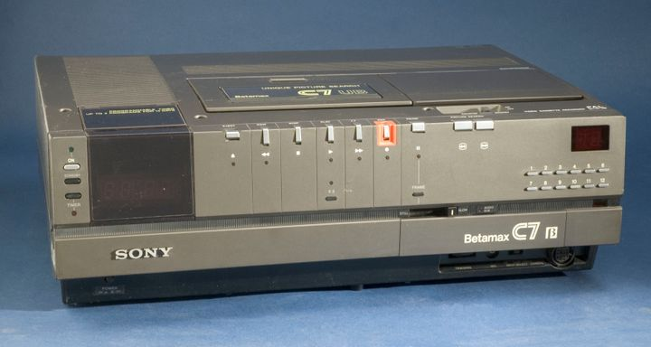 A not-so-sleek Betamax. Sony says the tapes will soon officially be history.