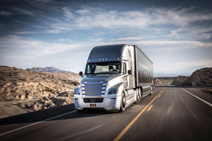 Daimler began testing a self-driving truck earlier this year.