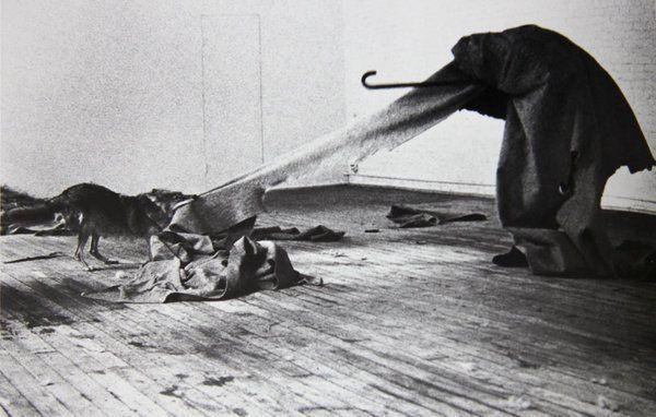 <i>Joseph Beuys, I Like America and America Likes Me (1974).</i>