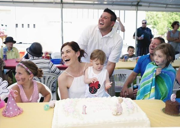 """""""My husband and I spent the rest of the day and night celebrating our daughter's first birthday after we surprised everyone a"""