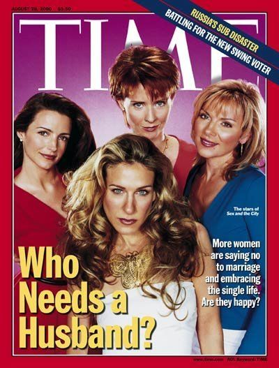 """Sex and the City"" women on time magazine"