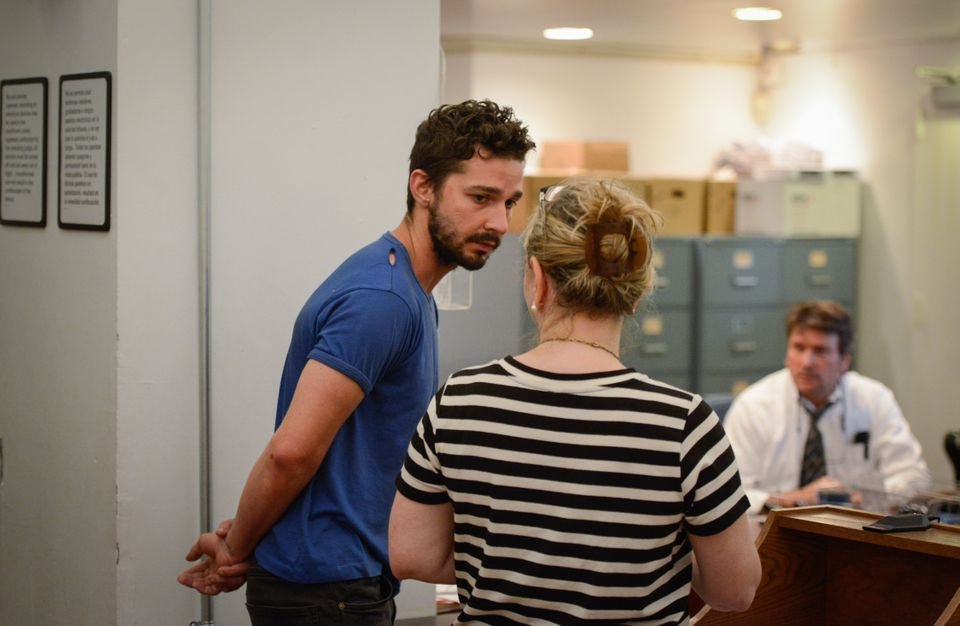 NEW YORK, NY - JUNE 27:  Shia LaBeouf (L), is arraigned in Midtown Community Court, on June 27, 2014 in New York City. The ac