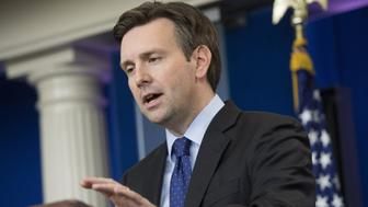 White House Press Secretary Josh Earnest speaks about the decision to put a small group of US Special Forces in Syria, during the Daily Press Briefing at the White House in Washington, DC, October 30, 2015. US President Barack Obama has authorized the first sustained deployment of US special forces to Syria, officials said Friday, easing his long-standing refusal to put boots on the ground.     AFP PHOTO / SAUL LOEB        (Photo credit should read SAUL LOEB/AFP/Getty Images)