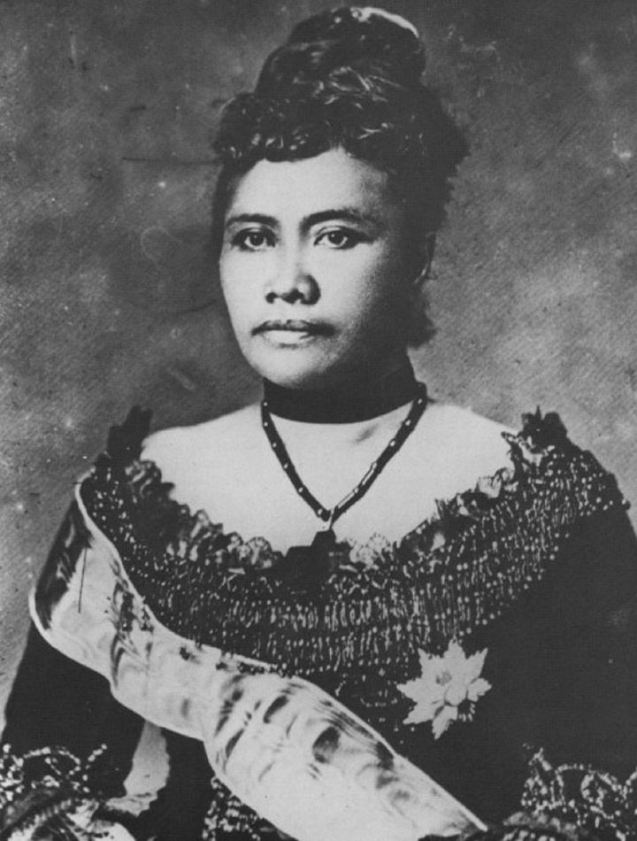 Photographic portrait of Queen Liliuokalani (1838-1917), the last monarch of the Kingdom of Hawaii.