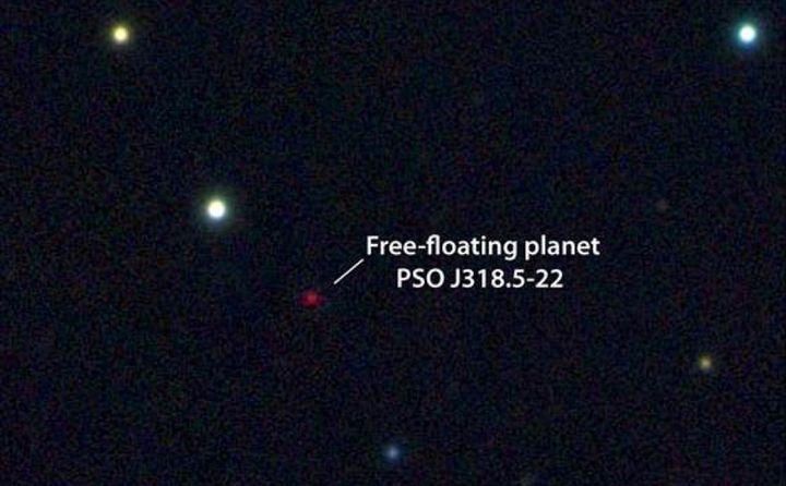 PSO J318.5-22, as seen in the constellation of Capricornus.