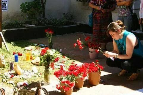 María Luisa Rosal visits the House of Memory in Guatemala City inFebruary 2014, to remember the disappeared and