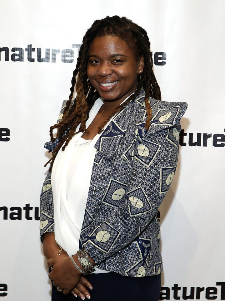 Katori Hall attends 'What I Did Last Summer' opening night party at Signature Theatre Company's The Pershing Square Signature