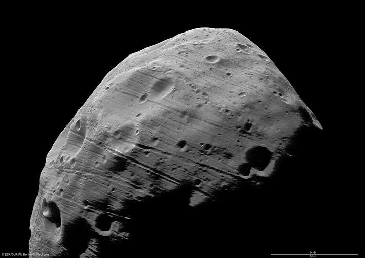 Mars' moon Phobos is slowly crumbling.