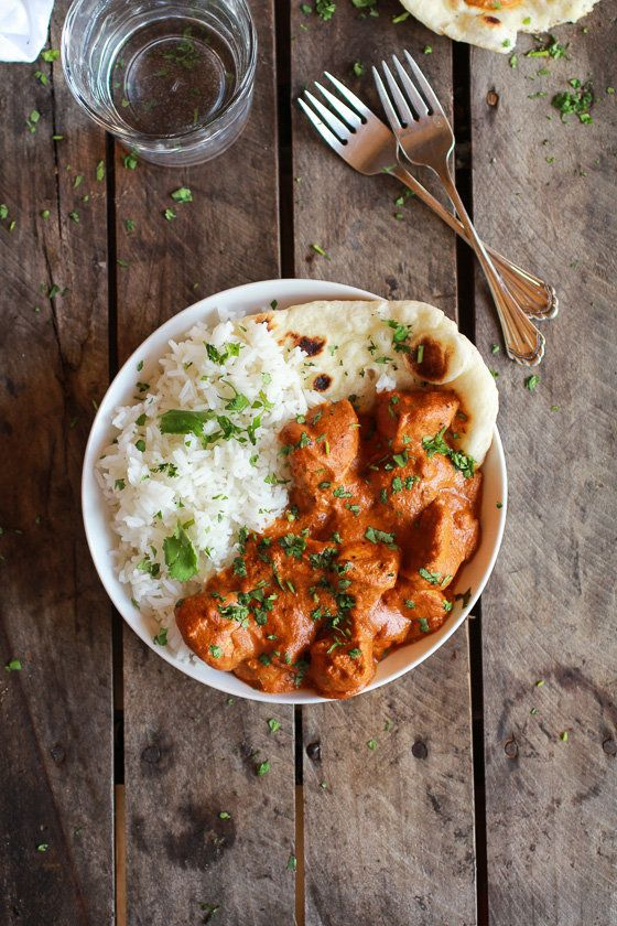 "<strong>Get the <a href=""http://www.halfbakedharvest.com/easy-healthier-crockpot-butter-chicken/"">Easy Slow Cooker Buttered C"