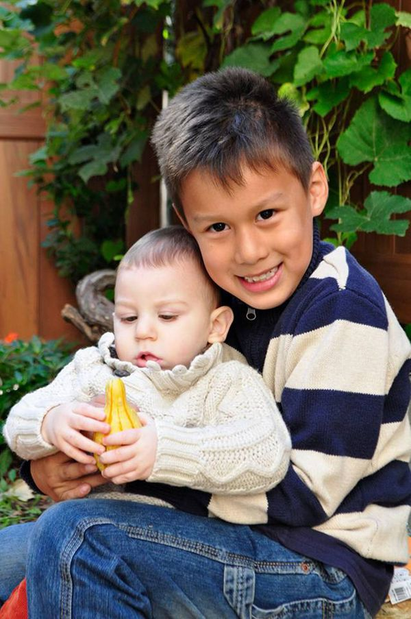 """Gabriel, age 6 and Eli, age 1. Both of my heart, one of my womb."""