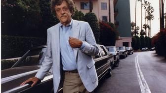 1990 file photo of author Kurt Vonnegut visiting at the Beverly Hils Hotel, promoting his new book tha deals with the environment.  (Photo by Al Seib/Los Angeles Times via Getty Images)