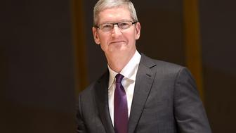 MILAN, ITALY - NOVEMBER 10:  Apple CEO Tim Cook attends the Inauguration of the Academic Year at Bocconi University on November 10, 2015 in Milan, Italy. Tim Cook is attending the opening of the academic year 2015 at Bocconi as a guest speaker. The University, founded in 1902, is a private university and is among the most important European universities for economics and social sciences, law and management.  (Photo by Jacopo Raule/Getty Images)