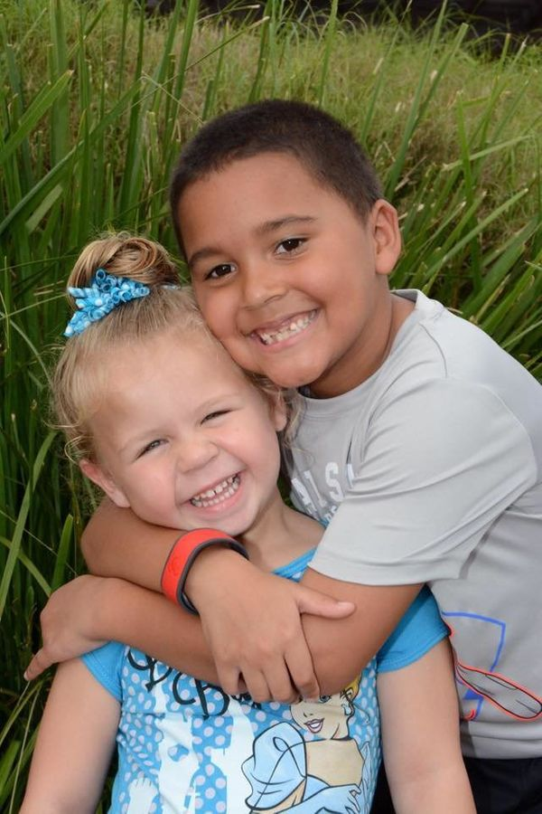 """""""My two kids, brother andsister in every way. I brought my son home from the hospital as a foster parent. His sister is"""