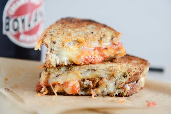 "<strong>Get the <a href=""http://www.howsweeteats.com/2014/02/spicy-mini-meatball-grilled-cheese/"" target=""_blank"">Spicy Mini"