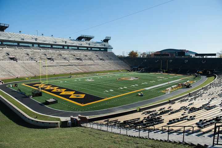 University of Missourifootball players returned to practice for the first time since the school's president and chancel