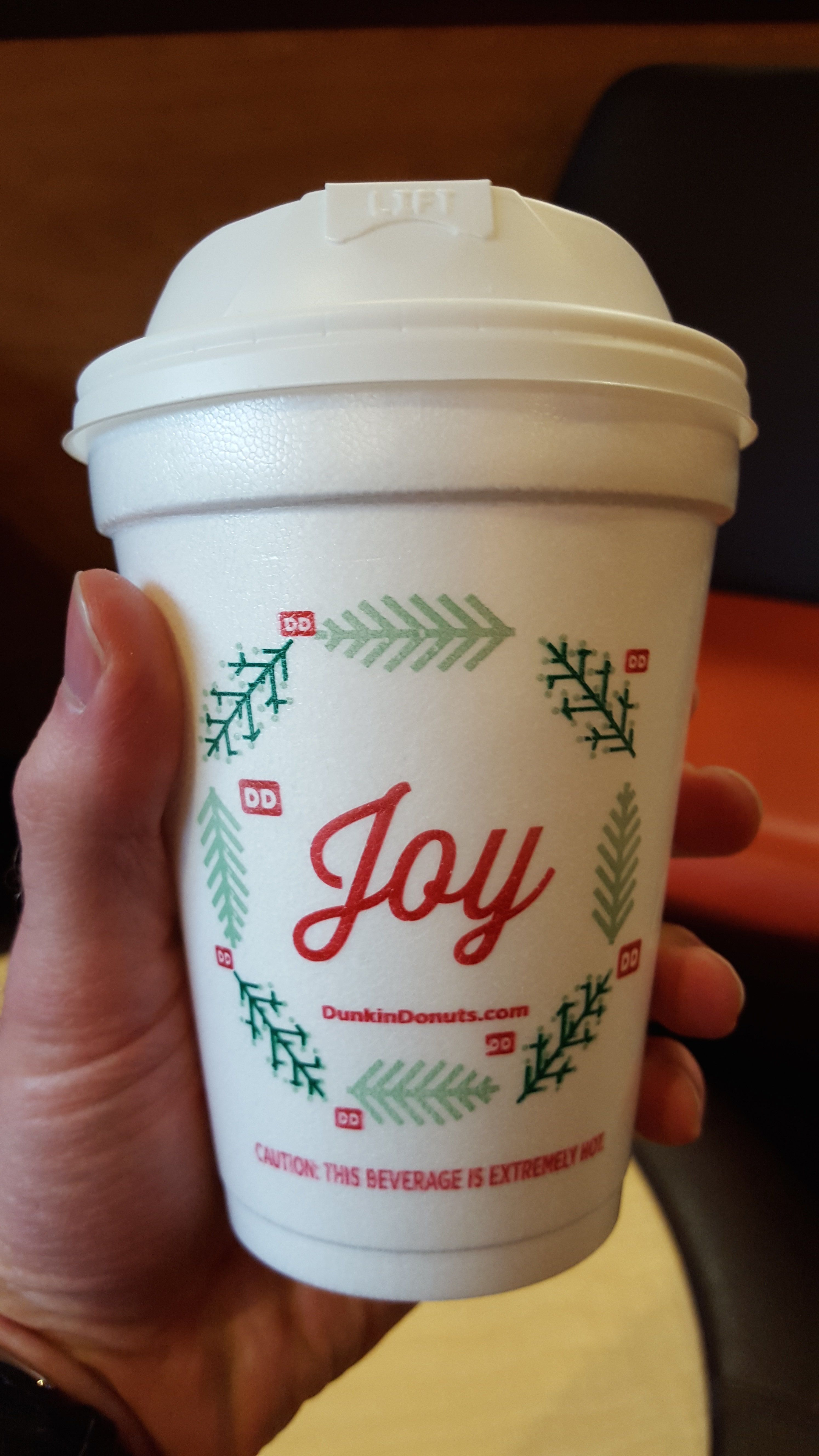 Dunkin' Donuts Releases 'Joy' Holiday Cup, No Offense To Starbucks ...