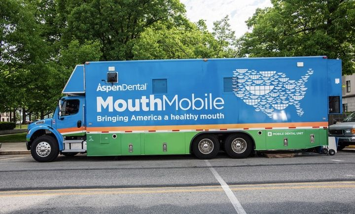 Through its Healthy Mouth Movement program, Aspen Dental dispenses a mobile dental unit through about 30 states to serve vete