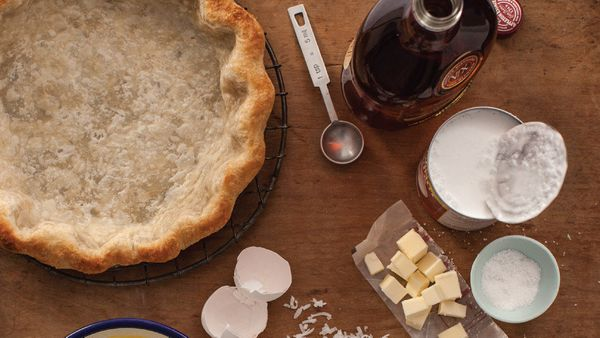 Coconut milk is the secret to making a pie with full, lush coconut flavor, which Ricciardi demonstrates in this intriguing re