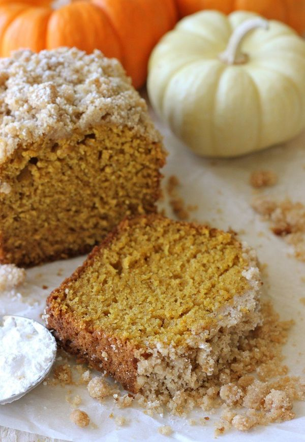 "<strong>Get the <a href=""http://damndelicious.net/2012/11/02/crumbly-pumpkin-bread/"" target=""_blank"">Crumble-Topped Pumpkin B"