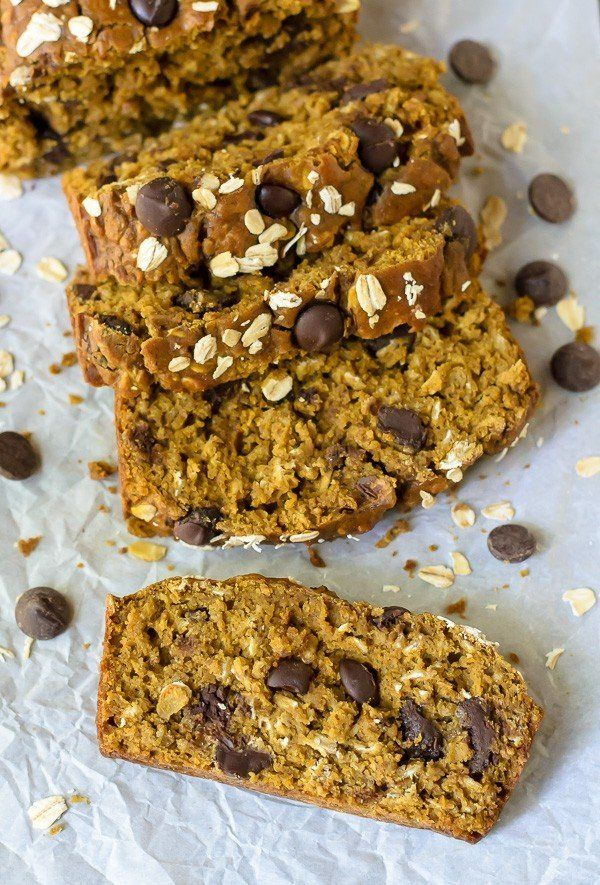 "<strong>Get the <a href=""http://www.wellplated.com/pumpkin-chocolate-chip-bread/"" target=""_blank"">Healthy Pumpkin Chocolate C"