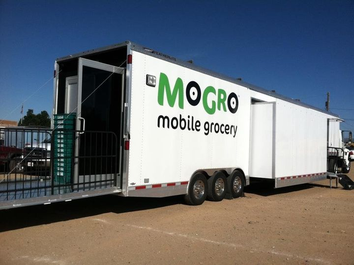 The MoGro trailer which, until earlier this year, helped low-income communities in New Mexico access fresh, affordable groceries.