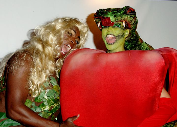 Seal and Heidi at her 7th annual Halloween party in 2006.